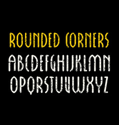 Sanserif font in new gothic style with rounded vector