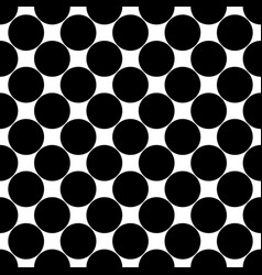 Seamless black and white polkadot pattern - vector