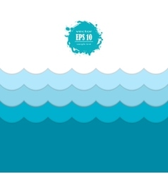 Seamless blue sea wave pattern vector