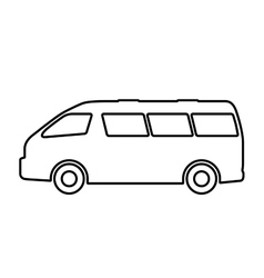 set of silhouettes of passenger cars vector image