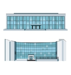 Set with two modern buildings vector image vector image