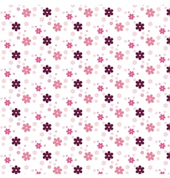 Simple pink flower pattern colorfulness cute vector image