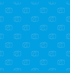 Slr camera pattern seamless blue vector