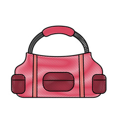 Sport bag isolated vector