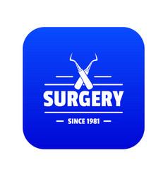 Surgery icon blue vector