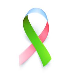 Symbol rare disease realistic ribbon template vector