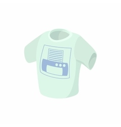 T shirt with printer icon cartoon style vector image