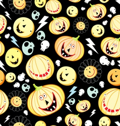 texture of pumpkins for Halloween vector image