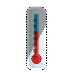Thermometer temperature scale vector image