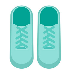 Trainers flat on white vector