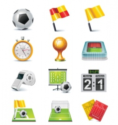 Vector soccer icon set vector