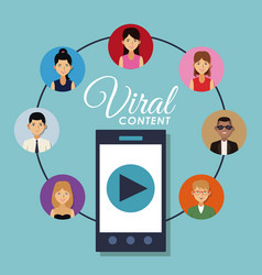 viral content and social networks vector image