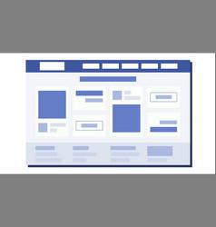 website flat design page plan coding web vector image