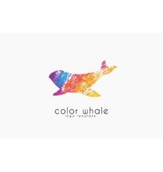 Whale logo Creative logo Sea logo Water logo vector image