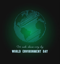 world environment day earth globe on green vector image