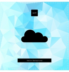 Abstract light blue polygonal background vector image