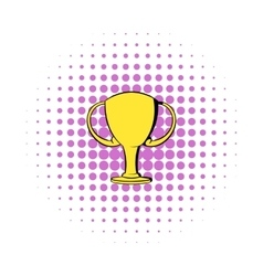 Champions gold cup icon comics style vector image vector image
