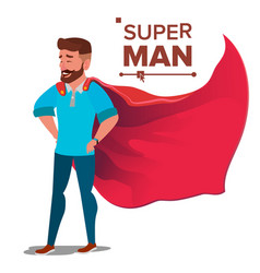 super businessman character successful vector image
