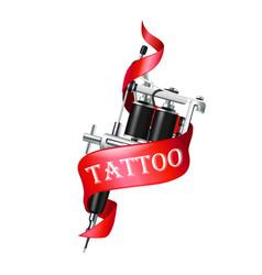 Tattoo machine ribbon vector