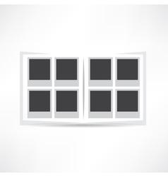 Album for photos icon vector image