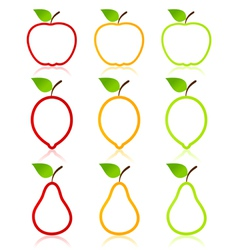 fruit icons vector image