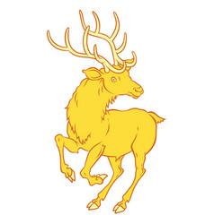 golden fabulous deer - a symbol of good luck vector image