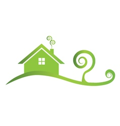 Green house icon logo vector image
