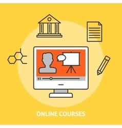 Online courses concept vector