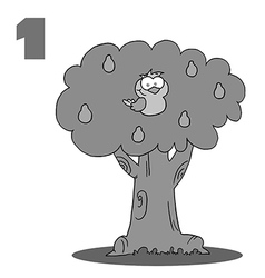 Partridge in a pear tree cartoon vector image