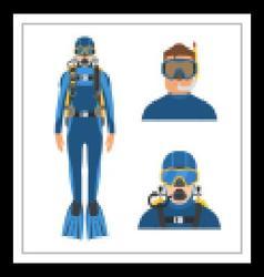 Scuba Diver Man vector image