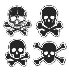 Set of Skulls and Crossbones vector image vector image