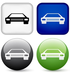 car buttons vector image vector image