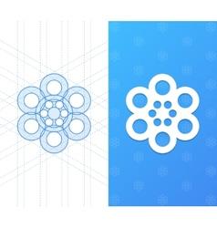 Geometric company icon template vector image vector image