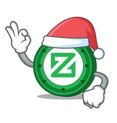 Santa zcoin mascot cartoon style vector