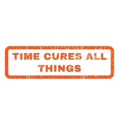 Time cures all things rubber stamp vector