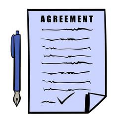 agreement icon icon cartoon vector image