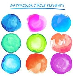 Beautiful watercolor design elements vector