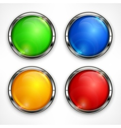 Color circles on white vector image vector image