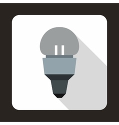 Reflector bulb icon flat style vector image