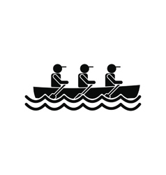 Rowing race icon vector image
