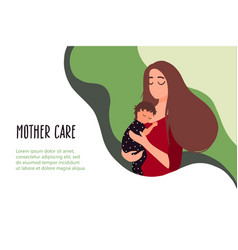 06 mother with a baby vector image