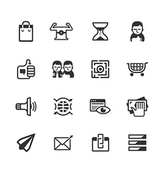 16 content marketing icons vector image