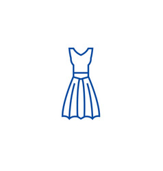 a line dress line icon concept a line dress flat vector image