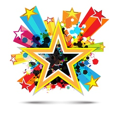 Abstract celebration star background design vector