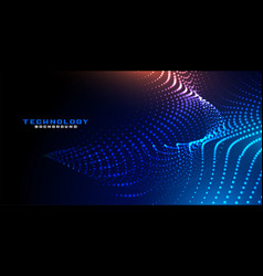 Abstract digital dynamic particles background vector