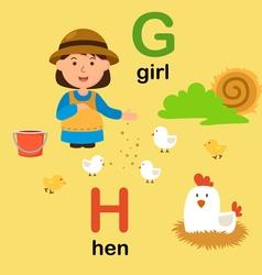 Alphabet g h vector