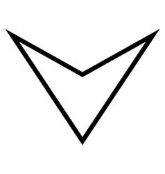 Arrowhead Down Outline Icon vector