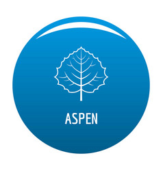 Aspen leaf icon blue vector