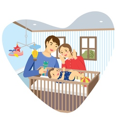 Baby family room vector