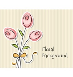 background with three abstract flowers vector image